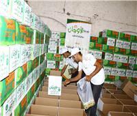 توزيع مواد غذائية على الأسر الأكثر احتياجًا بسوهاج