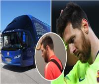 فيديو| حافلة برشلونة تغادر بدون ميسي.. لهذا السبب