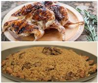 فطارك عندنا | سمان مشوي وأرز بالكبد والقوانص