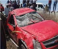 إصابة 5 عمال في انقلاب سيارة بالبحيرة
