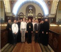 وفد الأكاديمية اللاهوتية الروسية يزور كاتدرائية العاصمة الإدارية