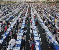أكبر مائدة إفطار في العالم بالعاصمة الإدارية