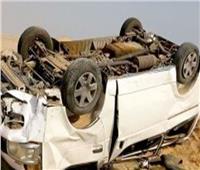 إصابة 13 شخصا في حادث انقلاب سيارة ميكروباص بالبحيرة