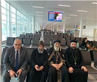 البابا تواضروس يصل مطار فرانكفورت في رحلته لألمانيا