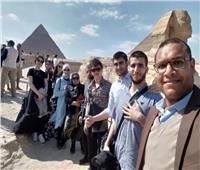 زيارة الأهرامات..آخر محطات وفد طلاب داغستان الروسية بجامعة أسيوط