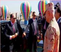 فيديو| لحظة وصول الرئيس السيسي لافتتاح محور روض الفرج