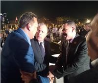 وزير الرياضة وأبو ريدة والجارحي والعامري في مبادرة «كلنا منتخب مصر»