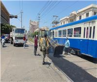 صور| تطوير مزلقانات الترام بسيدي جابر وبولكلي في الإسكندرية