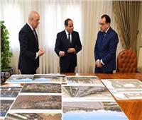 فيديو وصور| تفاصيل لقاء الرئيس السيسي بمدبولي والجزار حول العاصمة الإدارية