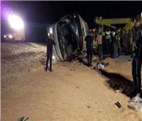 إصابة 15 من عمال فوسفات «أبو طرطور» في انقلاب سيارة بالوادي الجديد