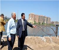 محافظ القليوبية يقوم بجولة تفقدية للممشى النهري بكورنيش بنها