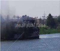 الدفع بـ8 سيارت إطفاء للسيطرة على حريق باخرتين بكورنيش النيل