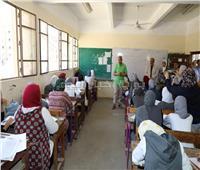 محافظ المنوفية يتفقد لجان امتحانات الصف الأول الثانوي بشبين الكوم