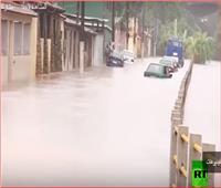 شاهد| فيضانات عارمة في البرازيل تُسبب انهيارات أرضية