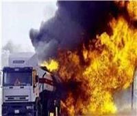 السيطرة على حريق سيارة نقل بالبدرشين