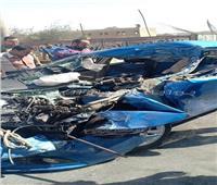 بالصور| إصابة سائق في حادث تصادم بحدائق الأهرام