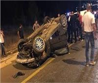 إصابة 4 أشخاص في انقلاب سيارة بالطريق الزراعيبالبحيرة