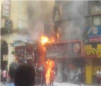 إصابة 3 أشخاص في حريق مطعم بالبحيرة