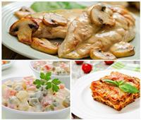 فطارك عندنا| بيكاتا الدجاج بالمشروم - لازانيا اللحم - سلطة روسي