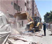 حملات لإزالة الاشغالات بمركز أبوتيج في أسيوط