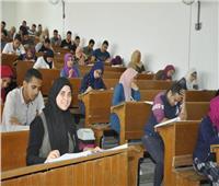 انتظام عملية الامتحانات بجامعة قناة السويس اليوم