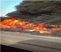 صور| السيطرة على حريق أتوبيس نقل عام بالقاهرة