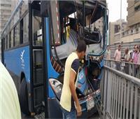 تصادم أتوبيس بسيارة نقل على طريق سندنهور- بنها