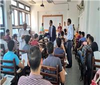 رئيس جامعة دمنهور يتابع لجان الامتحانات