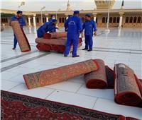 صور| الحرم النبوي يتجمل لاستقبال زواره من كل أنحاء العالم