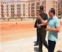 شاهد| «السيسي» يتفقد عددا من المشروعات بالعاصمة الإدارية الجديدة