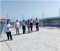 وكيل تعليم أسوان يتفقد أعمال التطوير بفصول الطاقة الشمسية بمدرسة الرمادى