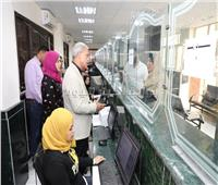 محافظ المنوفية يتفقد المركز التكنولوجي لخدمة المواطنين