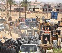 صور| جهاز القاهرة الجديدة و«أمن القاهرة» يستردان قطعة أرض بقيمة مليار جنيه