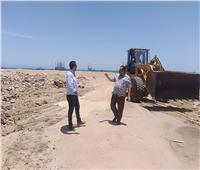 إعادة فتح مدخل شاطئ «المطار القديم» برأس غارب