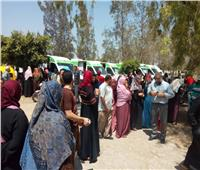 القوافل المجانية تعالج 1500 مريض بقرية فيشا في البحيرة