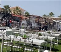 السيطرة على حريق مجمع مطاعم رأس البر بدمياط