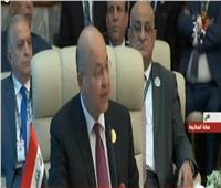 الرئيس العراقي: الأزمة الإقليمية ربما تقود إلى حرب