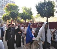 صور| أجراس كنائس زويلة وطبول الكشافة تدق لاستقبال موكب العائلة المقدسة