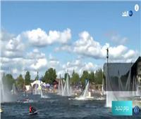 شاهد|17 دولة مختلفة يشاركون في المهرجان الدولي للرياضيات المائية