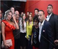 صور| عمرو سعد ولطفي وسوزان نجم الدين يحتفلون بعرض «حملة فرعون»