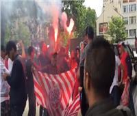 فيديو  مناوشات بين أنصار الوداد المغربي والترجي التونسي في باريس