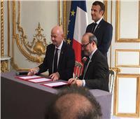 صور| اتفاقية بين فرنسا والـ«كاف» لتطوير الرياضة المصرية والكرة النسائية