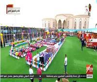 السيسي يحتفل مع أبناء الشهداء بعيد الفطر بمركز المنارة