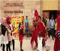 فقرة الحصان فى احتفالات متحف النيل
