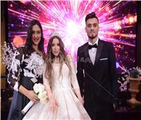 صور| نجم الأهلي صلاح محسن يحتفل بزفافه