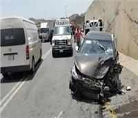 مصرع شخص وإصابة آخر في حادث تصادم بمحور 26 يوليو