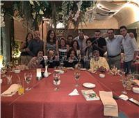 صور  مفيد فوزي ولطفي لبيب يحتفلان بعيد ميلاد جورج سيدهم