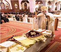 البابا تواضروس يشهد سيامة أساقفة جدد بالكاتدرائية المرقسية