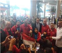 منتخب رفع الأثقال يصل القاهرة بعد حصد 5 ميداليات ذهبية