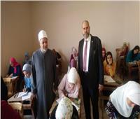 البدويهي والأمير يتفقدا لجان امتحانات التربية الرياضية لبنات الأزهر